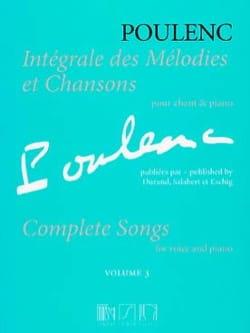 Intégrale des mélodies et chansons. Volume 3 POULENC laflutedepan