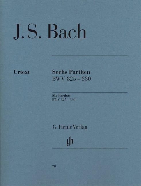 6 Partitas - BACH - Partition - Piano - laflutedepan.com