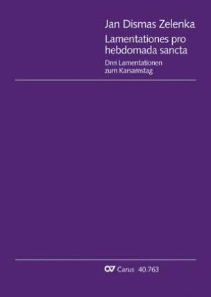 Lamentationes Pro Hebdomada Sancta Zwv 54 ZELENKA laflutedepan