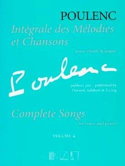 Intégrale des mélodies et chansons. Volume 4 POULENC laflutedepan
