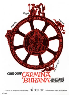 Carmina Burana. Choeur / 2 Pianos / Percu ORFF Partition laflutedepan