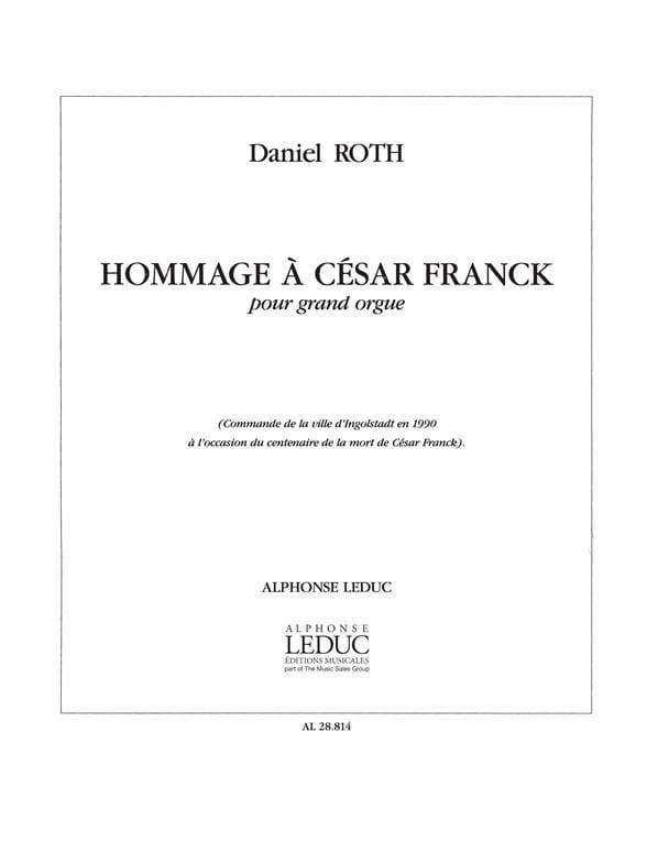 Hommage A César Franck - Daniel Roth - Partition - laflutedepan.com