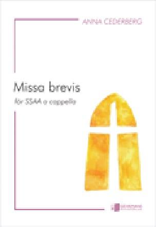 Missa Brevis - Anna Cederberg-Orreteg - Partition - laflutedepan.com