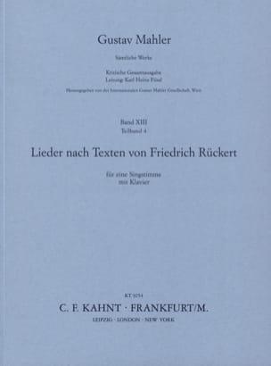 Rückert Lieder MAHLER Partition Mélodies - laflutedepan