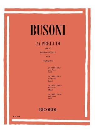 24 Préludes Op. 37 Vol 1 BUSONI Partition Piano - laflutedepan