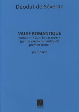 Valse Romantique Déodat de Séverac Partition Piano - laflutedepan