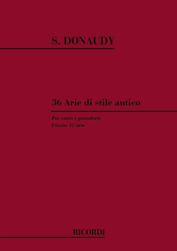 36 Arie Di Stile Antico Volume 1 - Stefano Donaudy - laflutedepan.com