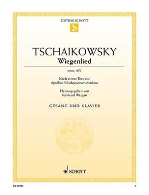 Wiegenlied, Op. 16/1 TCHAIKOVSKY Partition Mélodies - laflutedepan