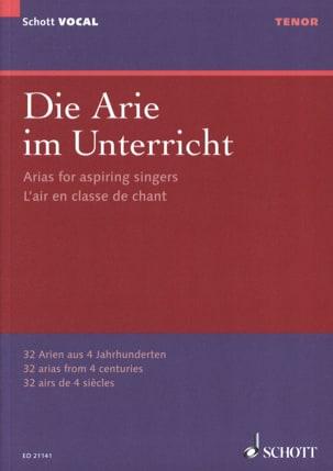 Die Arie im Unterricht. Ténor - Partition - laflutedepan.com