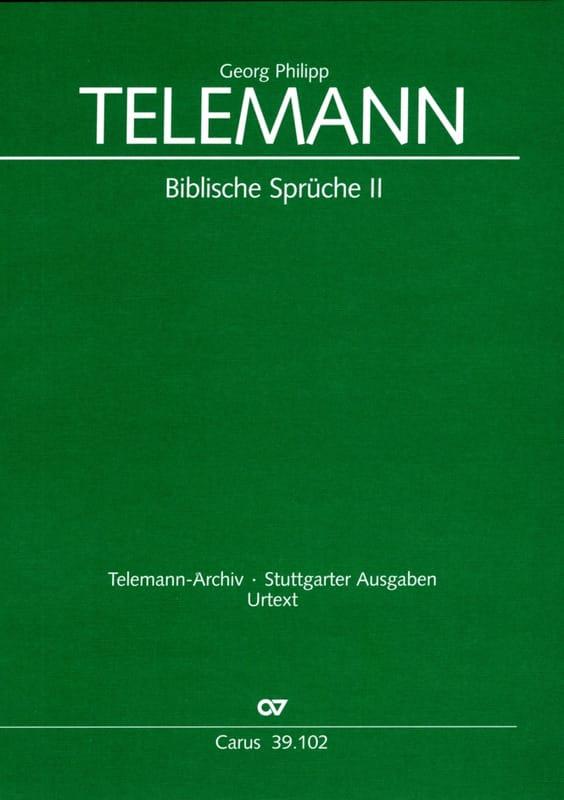Biblische Sprüche 2 - TELEMANN - Partition - Chœur - laflutedepan.com