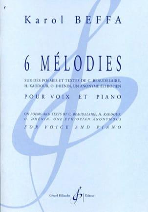 6 Mélodies - Karol Beffa - Partition - Mélodies - laflutedepan.com