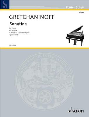 Sonatine Fa Majeur Op. 110-2 Alexander Gretchaninov laflutedepan