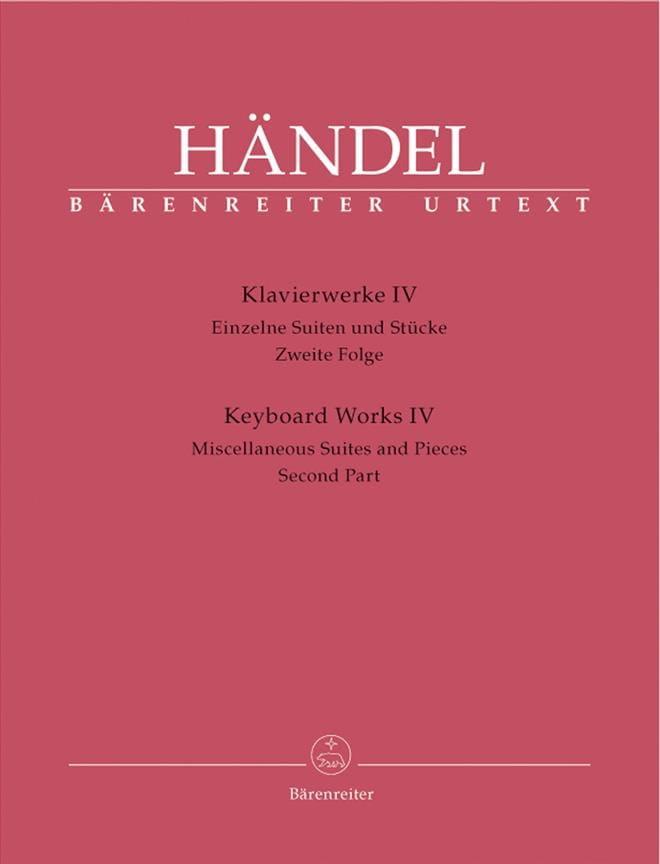 Oeuvre pour piano Volume 4 - HAENDEL - Partition - laflutedepan.com