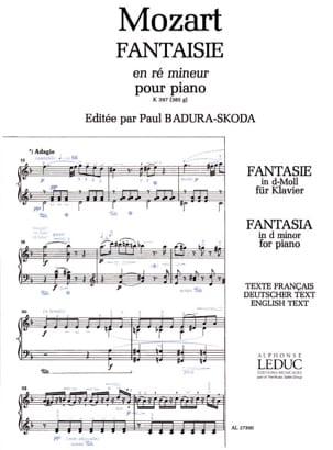 Fantaisie En Ré Mineur K 397 MOZART Partition Piano - laflutedepan