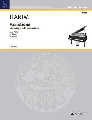 Variations sur auprès de ma blonde Naji Hakim Partition laflutedepan