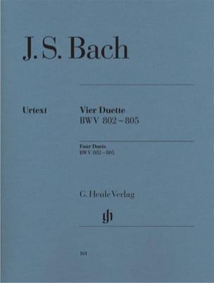 4 Duette. BWV 802-805 BACH Partition Piano - laflutedepan