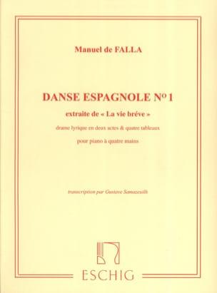 Danse Espagnole N°1. 4 Mains DE FALLA Partition Piano - laflutedepan