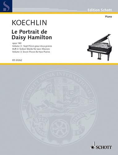 Le Portrait de Daisy Hamilton Op. 140. Volume 3. 2 pianos - laflutedepan.com