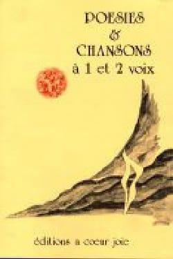Poésies & Chansons à 1 et 2 Voix Partition Chœur - laflutedepan