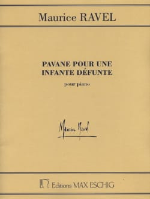 Pavane Pour une Infante Défunte - RAVEL - Partition - laflutedepan.com