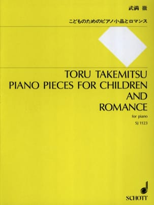 Piano Pieces For Children And Romance TAKEMITSU Partition laflutedepan