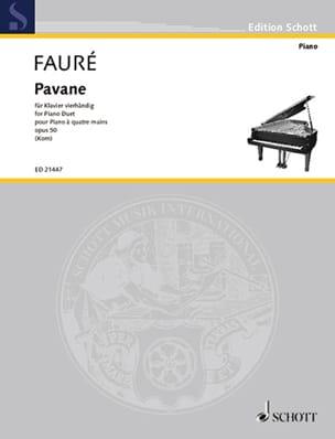 Pavane Opus 50. 4 mains FAURÉ Partition Piano - laflutedepan