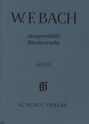 Oeuvres choisies pour piano Wilhelm Friedemann Bach laflutedepan