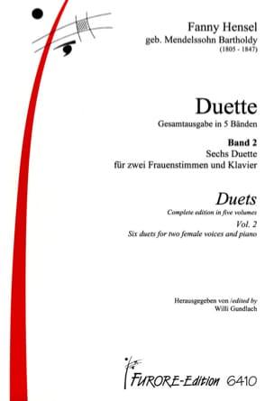 Duette Volume 2 Fanny Hensel-Mendelssohn Partition Duos - laflutedepan
