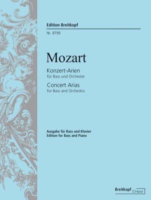 MOZART - Konzert-Arien Für Bass - Partition - di-arezzo.com