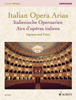 Airs d'Opéras Italiens. Soprano Partition Opéras - laflutedepan
