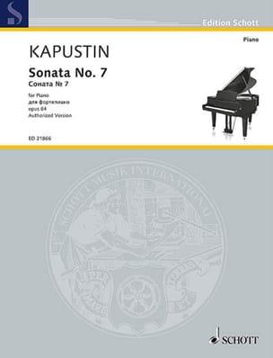 Sonate pour Piano n° 7 Opus 64 Nikolai Kapustin Partition laflutedepan