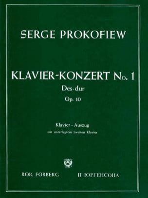 Concerto Pour Piano n° 1 Opus 10 PROKOFIEV Partition laflutedepan