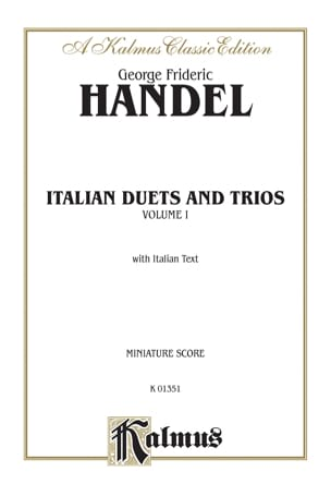 Italian Duets And Trios Volume 1 HAENDEL Partition Duos - laflutedepan