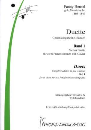 Duette Volume 1 Fanny Hensel-Mendelssohn Partition Duos - laflutedepan