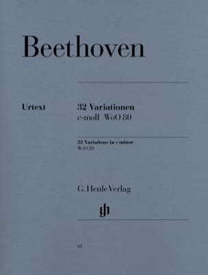BEETHOVEN - 32 WoO 80 Variazioni - Partition - di-arezzo.it