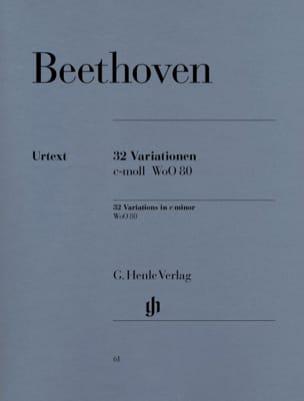32 Variations WoO 80 BEETHOVEN Partition Piano - laflutedepan