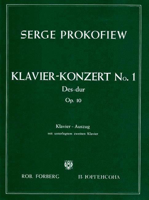 Concerto Pour Piano n° 1 Opus 10 - PROKOFIEV - laflutedepan.com