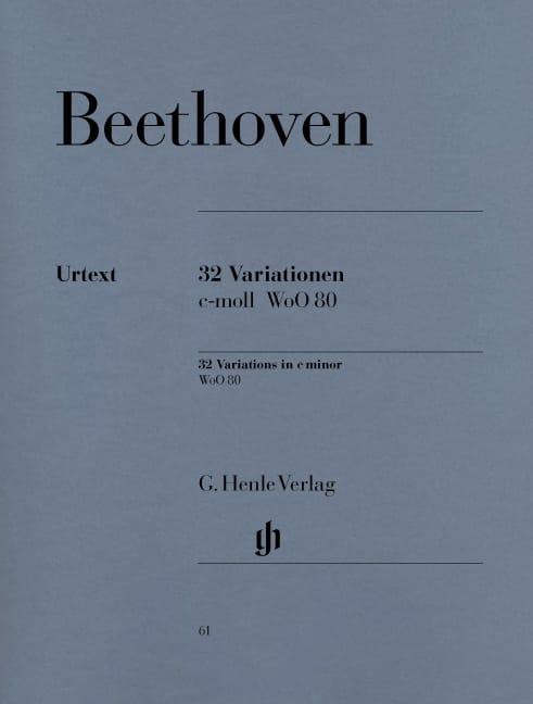 32 Variations WoO 80 - BEETHOVEN - Partition - laflutedepan.com