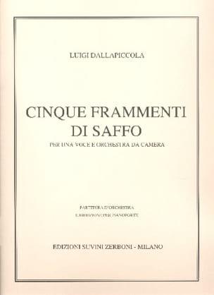 5 Frammenti Di Saffo Luigi Dallapiccola Partition laflutedepan