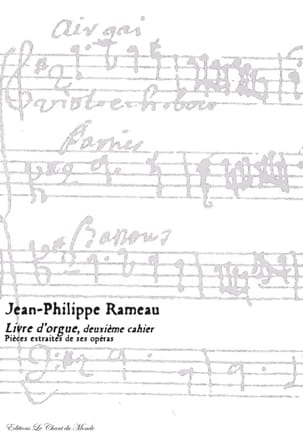 Livre D'orgue 2ème Cahier RAMEAU Partition Orgue - laflutedepan