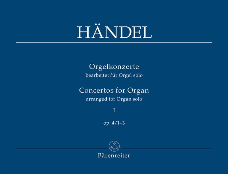 Concertos Opus 4 Volume 1 - HAENDEL - Partition - laflutedepan.com