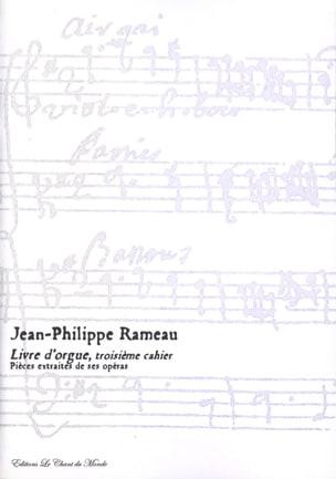 Livre D'orgue 3ème Cahier RAMEAU Partition Orgue - laflutedepan