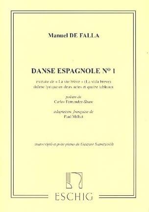 2 Danses Espagnoles. n° 1 DE FALLA Partition Piano - laflutedepan