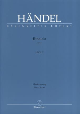 HAENDEL - Rinaldo. HWV 7a - Partition - di-arezzo.co.uk