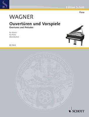 Ouvertures et préludes WAGNER Partition Piano - laflutedepan