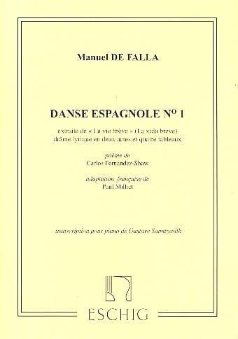 2 Danses Espagnoles. n° 1 - DE FALLA - Partition - laflutedepan.com