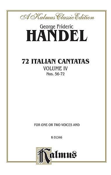 72 Italian Cantatas Volume 4 - HAENDEL - Partition - laflutedepan.com