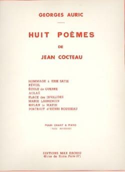 8 Poèmes de Cocteau Georges Auric Partition Mélodies - laflutedepan