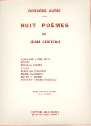 8 Poèmes de Cocteau - Georges Auric - Partition - laflutedepan.com