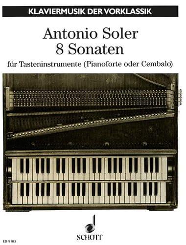 8 Sonates - Antonio Soler - Partition - Clavecin - laflutedepan.com